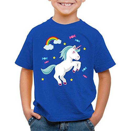 style3 Unicorn Candy Einhorn Kinder T-Shirt Regenbogen Süßwaren, (Baby Kostüme Corn Candy Halloween)