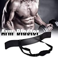 Biceps Aislador Generador de Músculos del Brazo Herramienta de Entrenamiento de Barra de Pesas Arm Curl, Correa Ajustable, Negro