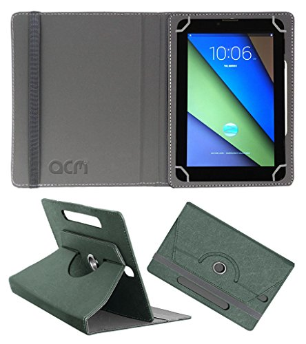 Acm Designer Rotating Leather Flip Case for Zync Z900 Plus Cover Stand Grey  available at amazon for Rs.169