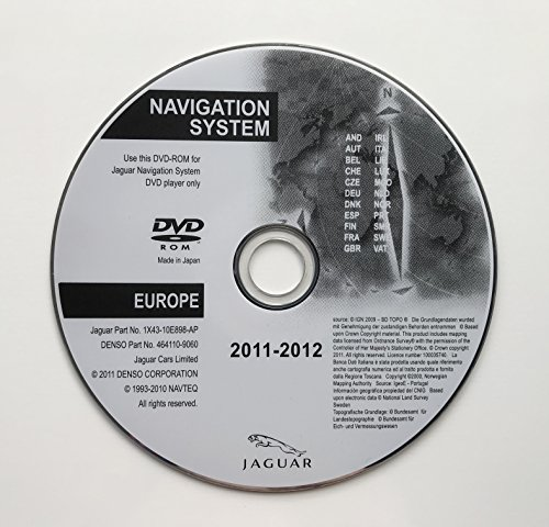 2012 Jaguar SAT NAV Map Update Disc Navigation DVD Europa (Gps-update-disk)