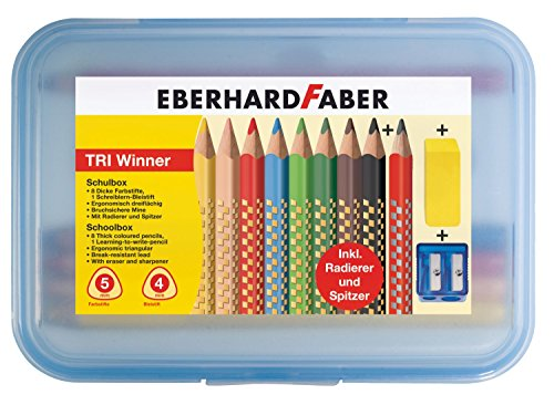 Eberhardt Faber 518425 TRI Winner Schulbox, 11-teilig