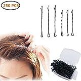 Haarnadeln, 250 Stück Schwarzes Metall Wellenform Haarklammern(200 Stück 1.97 inch und 50 Stück 2.36 inch), Klassische Bobby Pin für Mädchen Haarzusätze