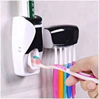 SHREE HANS CREATION | Toothbrush Holder with Cover Automatic Toothpaste Set Dustproof with 3M Sticky Suction Pad Wall…