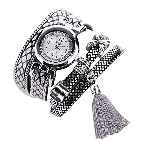 l Hippie Armbanduhr Damen Dekoration Fransen Armbanduhr Herren Stil Quarz Vintage Armbanduhr Damen Farbe-1 ()