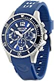 Sector Men's Quartz Watch with Blue Dial Analogue Display and Blue PU Strap R3251161003