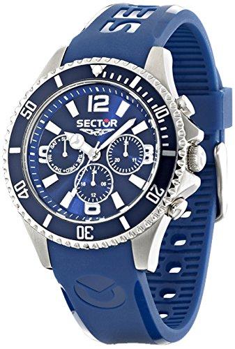 Sektor r3251161003–Uhr für Männer, Gummi-Armband Blau