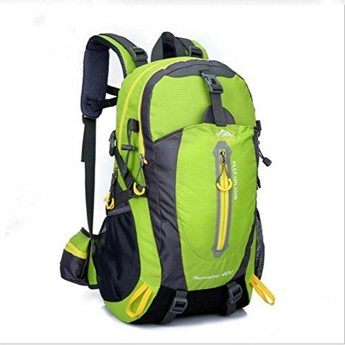 Uomini e donne spalla alpinismo esterno borsa zaino da escursione , black Green