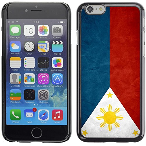 Graphic4You Vintage Uralt Flagge Von Philippinen Philippinische Design Harte Hülle Case Tasche Schutzhülle für Apple iPhone 6 Plus / 6S Plus Philippinen Philippinische