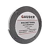 GAUDER Extra stark selbstklebendes Magnetband | Magnetstreifen | Magnetklebeband