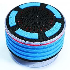 Wasserabweisend Bluetooth Dusche Lautsprecher, Wireless Dusche FM Radio LED Beleuchtung Lautsprecher MP3Verwendet für Boot/Auto/Duschen/Bad/Pool/Strand/Außenbereich