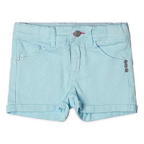ESPRIT Mädchen Slim Fit Shorts RJ26023, Einfarbig, Gr. 128, Grün (JADE 556)