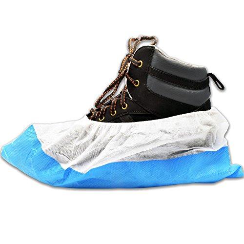 40 x simply direct copriscarpe resistenti/coperture del pattino - blu/bianco - di lunga durata sovrascarpe resistenti, riutilizzabili, duraturi