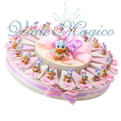 Bomboniere disney nascita battesimo primo compleanno torta statuina paperina (20 pezzi)