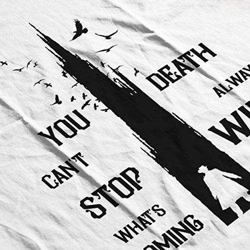 The Dark Tower Gunslinger Death Always Wins Black Men's Vest White