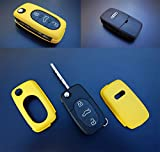 Key Cover Hülle für Klappschlüssel Fernbedienung FFB Gelb