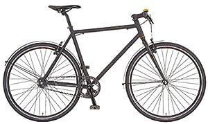 Prophete Herren Trekkingfahrrad Singlespeed-Bike 28 Zoll Belt-Drive, schwarz matt, 52, 51136-2111