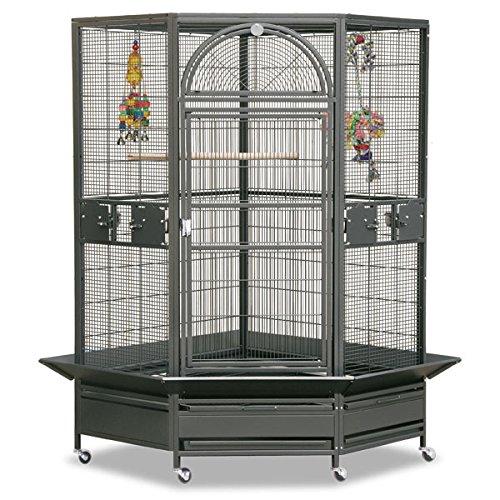 Montana Cages Eck Voliere Käfig XXL Vogelkäfig Denver II - in Antik VERSANDKOSTENFREI