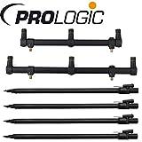 Prologic Goalpost Kit 3 Rods - 4 Banksticks 60-90cm + 2 Buzzer Bars zum Karpfenangeln, Rutenablage zum Karpfenangeln, Rutenhalter