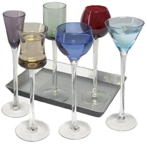 7-teiliges Set Langer Stiel Likör   Artland Likör Jewel Tone Cordial Set, Brillen, Apertif Gerahmter Kunstdruck, Digestif Gläser (Likör Gläser)