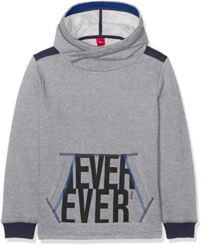 s.Oliver Jungen Sweatshirt 62.711.41.4737, Blau (Dark Blue Melange 58W6), 164 (Herstellergröße: L)
