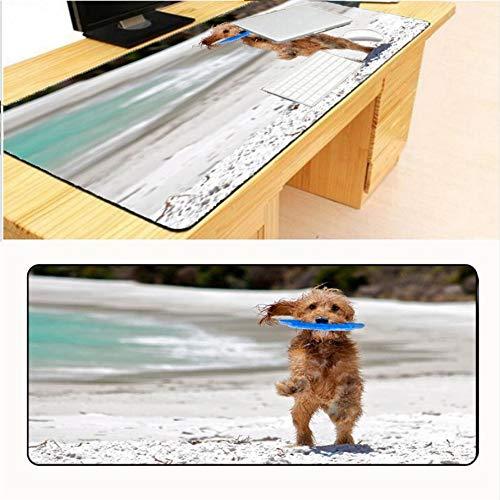 Lbonb Bedienoberfläche Spiele Schöne Katze Hund Gemalt Optische Tischset Mauspad Große Computer Xl 900 * 400 * 2Mm -