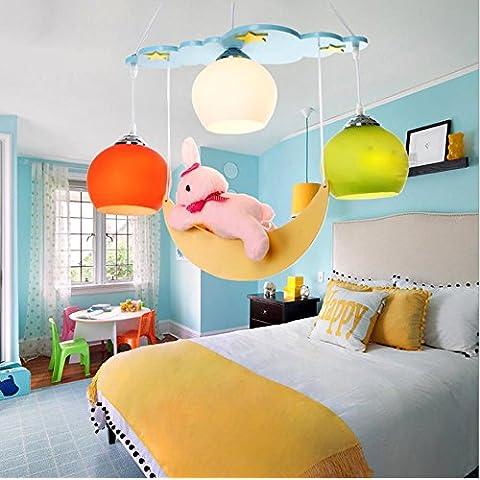 Blue Moon Rabbit moderni soffitti illumina illumina Ciondolo Illuminazione 110V-240V - Blue Moon Vetro