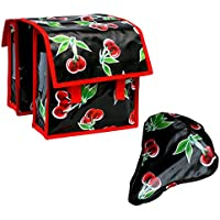 Retro Kinderfahrradtasche 2 x 6,25 l Fassungsverm/ögen Tehuana schwarz kleine Fahrradtasche f/ür Klapprad oder Faltrad aus Wachstuch wasserdicht
