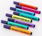 Rood 8x Gel Kugelschreiber Farbe Gel Stift Malerei Graffiti Pen Kinder Stationery Office Supplies Triangle Pen Textmarker aus massivem Textmarker Pen Farbe Schlüssel Marker Line Marker Pen