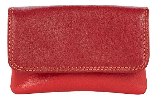 """Visconti mini borsellino di pelle da donna """"Rainbow"""" multicolore Purse (RB99): (toni del rosso (red multi)) toni del rosso (red multi)"""