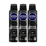 Nivea Men Deep Impact Freshness Deodorant Spray - For Men, 150 ml (Pack of 3)