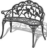 Panchine da parco sedie da giardino all'aperto mobili per sedersi alluminio bianco a 2 posti,Green