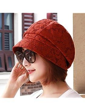 Primavera Verano lace transpirable tapa cuenca lady pescador hat sombrero para el sol Sombrero moda 55cm-58cm...