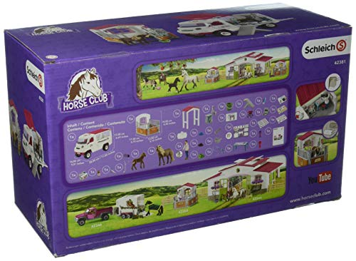 Schleich 42381  Vet s Visit to the Farm Play Set Consists of Mobile Animal Doctor 42370  and Horse Box       Horse Club Playing Pieces