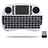 QQPOW Mini 2.4Ghz Touchpad teclado inalámbrico con ratón para Google Android Tv Box, Pc, Pad, Xbox 360, PS3, Htpc, IPTV (BLANCO)