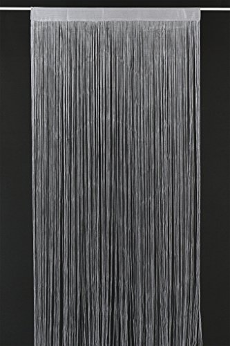 Fadenvorhang Selene 240x90 cm H/B   Farbe: grau   Fadengardine Fadenstore Raumteiler Insektenschutz