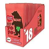 Bear Yoyo 100 Percent Fruit Rolls Strawberry 20 g (Pack of 18)