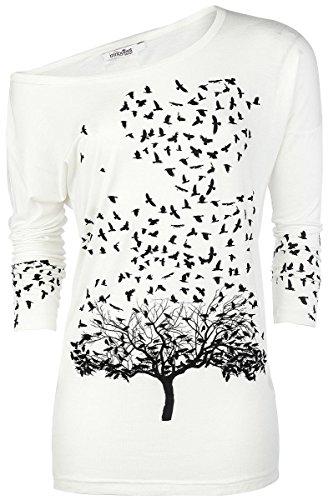 Innocent Crow Heart Manica lunga donna bianco XL