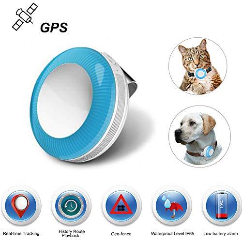 Mini Localizador GPS, GPS Tracker para Mascotas Gatos Perros/Seguimiento en Tiempo Real/Geo-Valla/Historia...