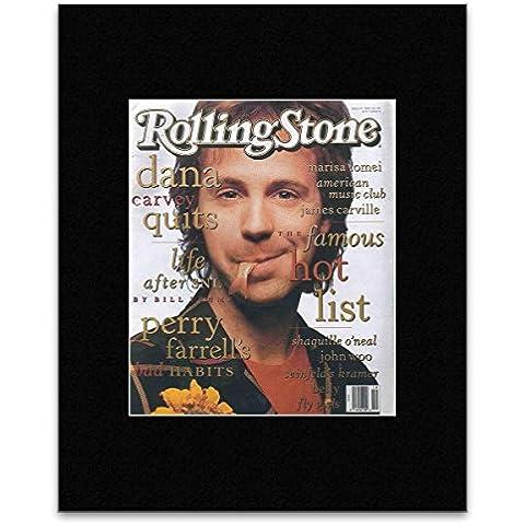 ROLLING STONE - Dana Carvey 1993 minipóster - 19,3 x 15,9 cm enmarañado