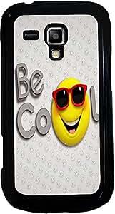 PrintVisa 2D-SGS3Mini-D7728 Cartoon Cool Smiley Case Cover for Samsung Galaxy S3 Mini I8190