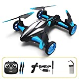 Lihgfw Aerei a Controllo remoto Drone Aereo RC Aerei a Quattro Assi Bambino Ragazzo Giocattolo Una Macchina Telecomando a Doppio Uso Auto/Aerei a Controllo remoto (Color : Blu)