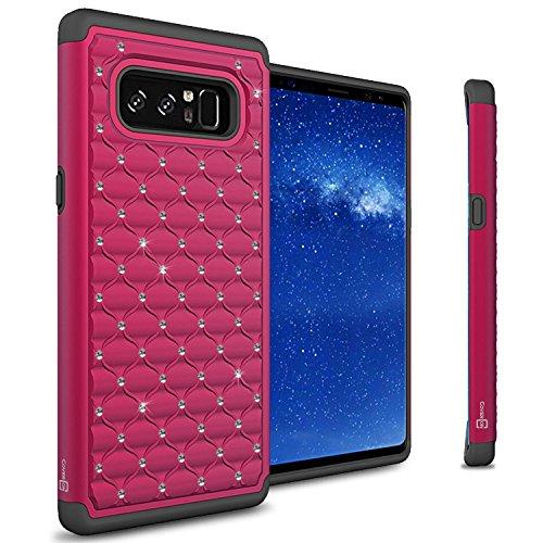 coveron Aurora Serie für Galaxy Note 8Case, Schutzhülle Hybrid Handy Cover mit Strass Diamant Akzente, Pink (Pretty Pink) -