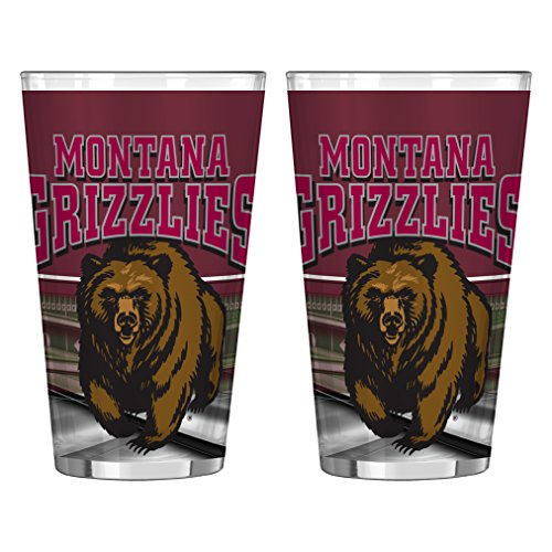 Boelter Brands NCAA Montana ECHL Field Sublimated Pint, 473 ml, 2er Pack
