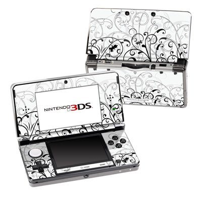 mygift-wb-fleur-design-decorative-protector-skin-decal-sticker-for-nintendo-3ds-portable-game-device