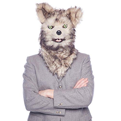 Moving Mouth Mask 21760 Wolfskopf Wolf Hund Deluxe Tiermaske Huskie, One Size