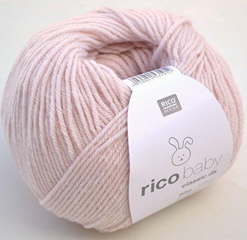Rico Design rico baby classic dk Strick- und Häkelgarn Babywolle puder