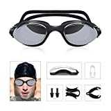Gafas de Natación, Gafas para Nadar, Unisex Adulto, contra la niebla y los rayos UV, Ajustable...