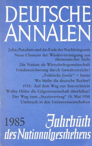1985. Jahrbuch des Nationalgeschehens