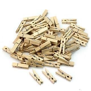 AllLife 100 Pcs Useful Mini Wooden Clothes Photo Paper Peg Clothespin Craft DIY Clips