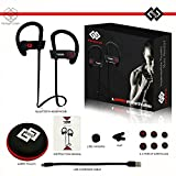 TAGG® Inferno Wireless Bluetooth Sweatproof Earphones With Mic & Free Carry Case